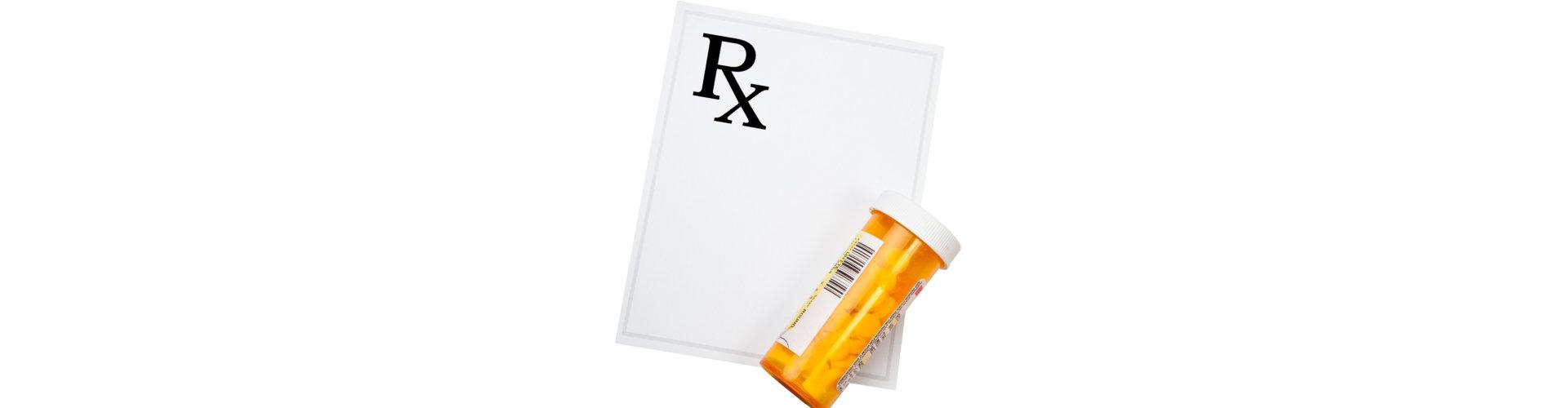 medical prescription with medicine